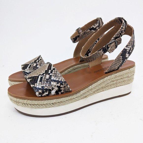 Lucky Brand Jeneka Snakeskin Espadrille Sandals